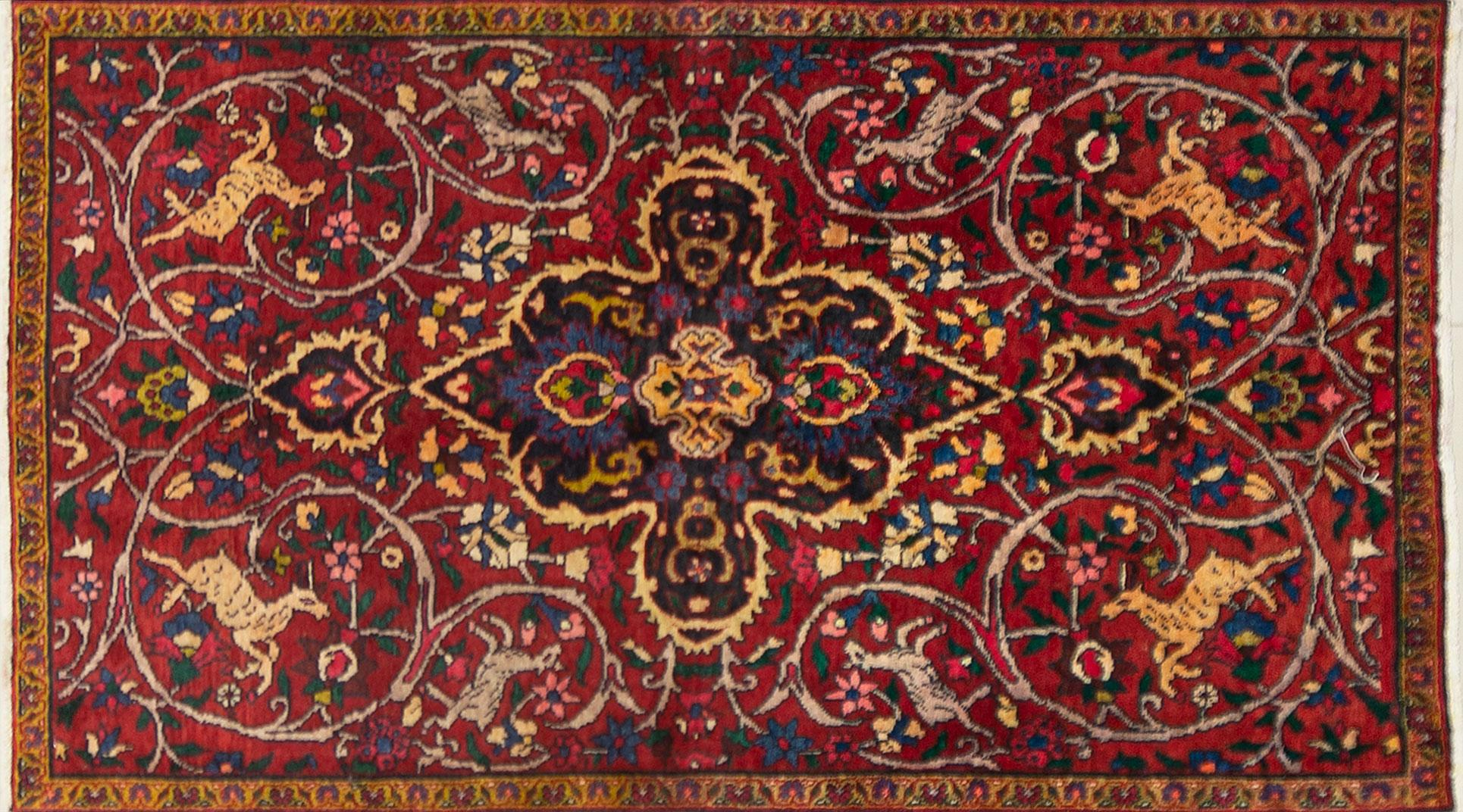 A Persian Hand Knotted Bakhtiari Rug, 180 x 102