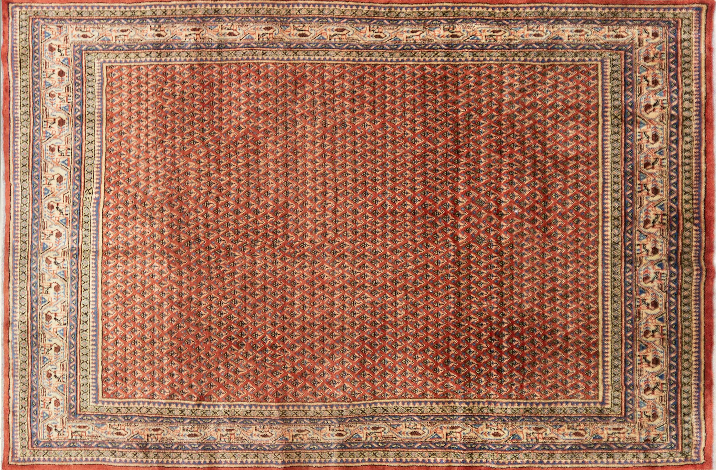 A Persian Hand Knotted Mir Carpet, 318 x 208