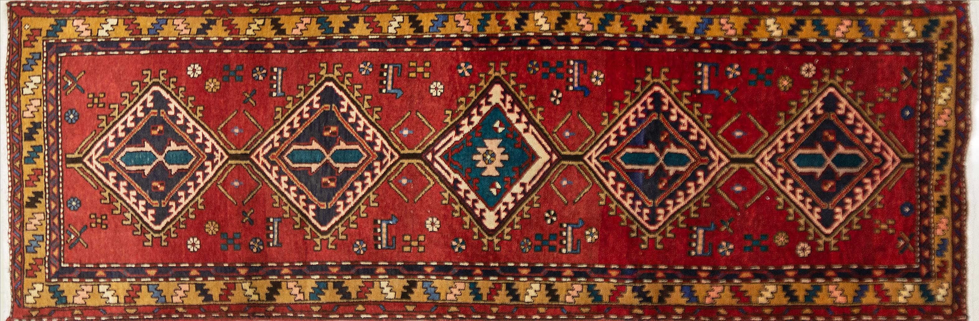 A Persian Hand Knotted Azari Runner, 290 x 97