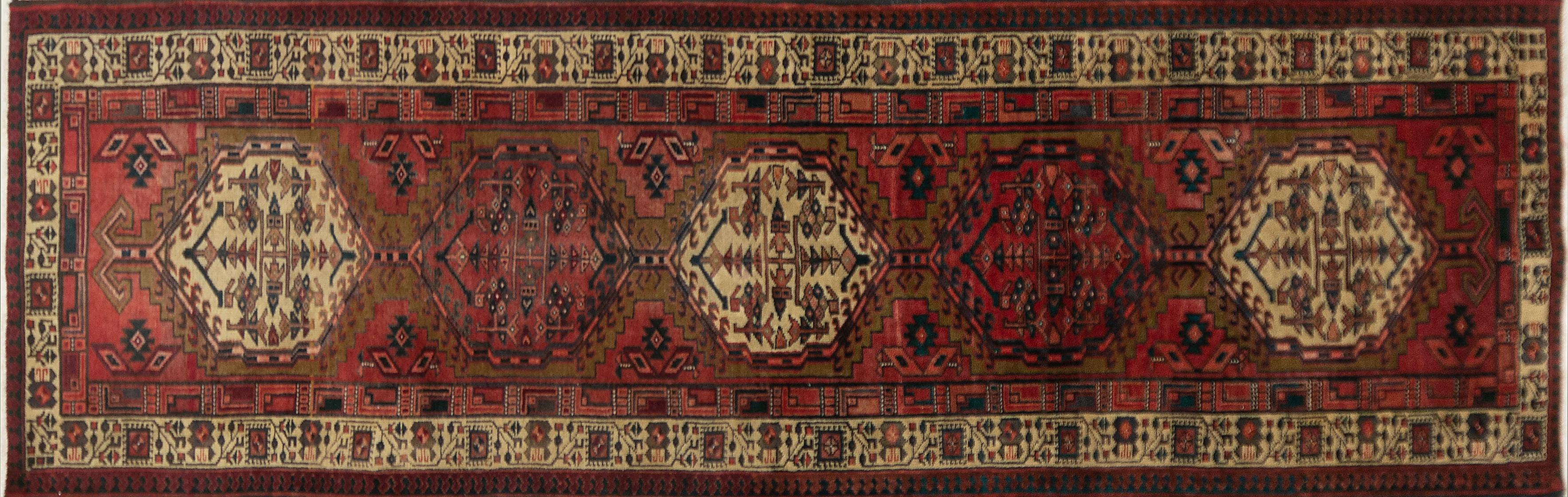 A Persian Hand Knotted Azari Runner, 330 x 100