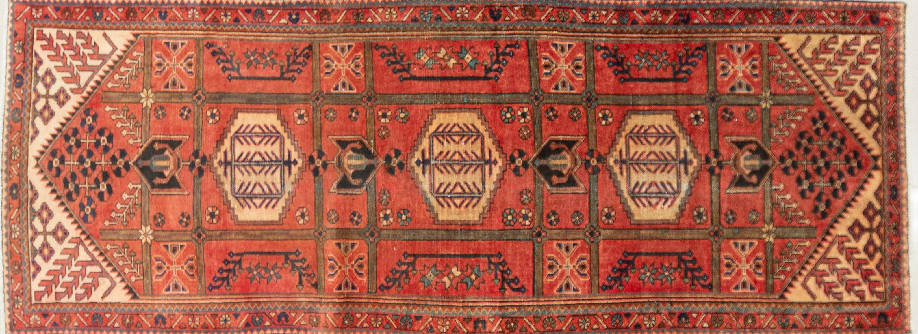 A Persian Hand Knotted Hamadan Runner, 300 x 112