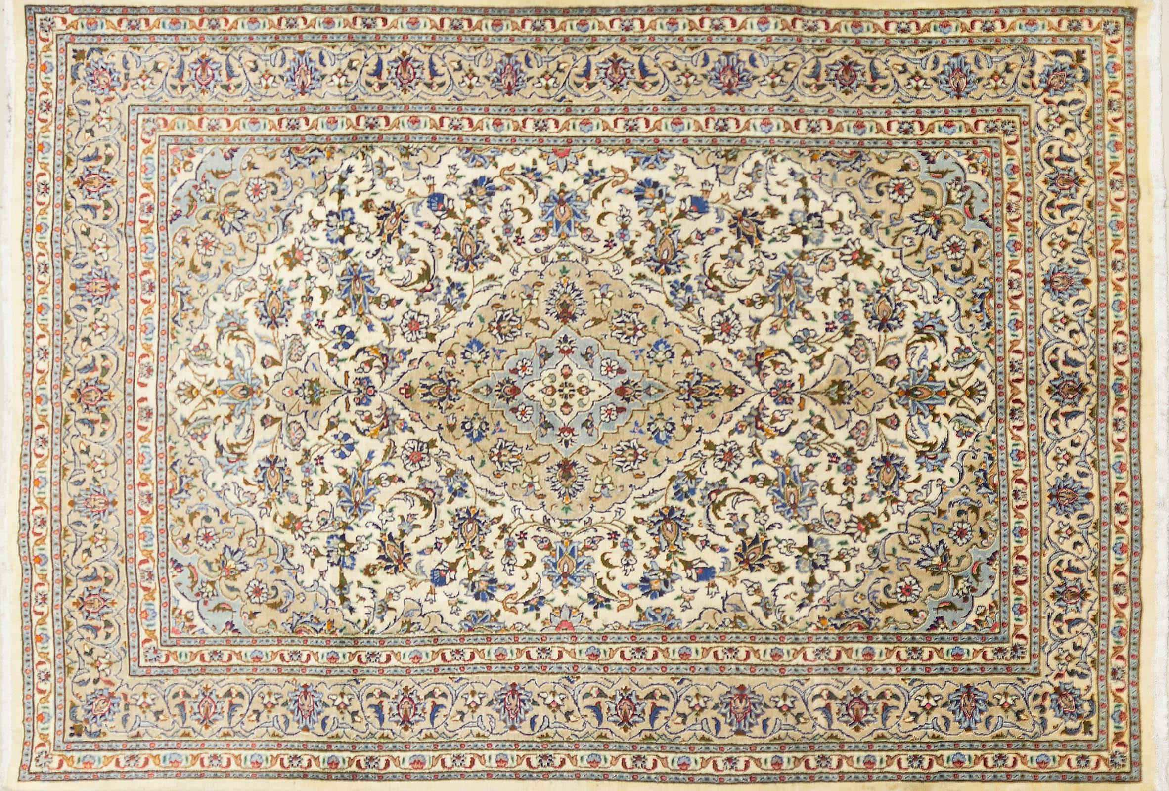 A Persian Hand Knotted Kashan Carpet, 290 x 200