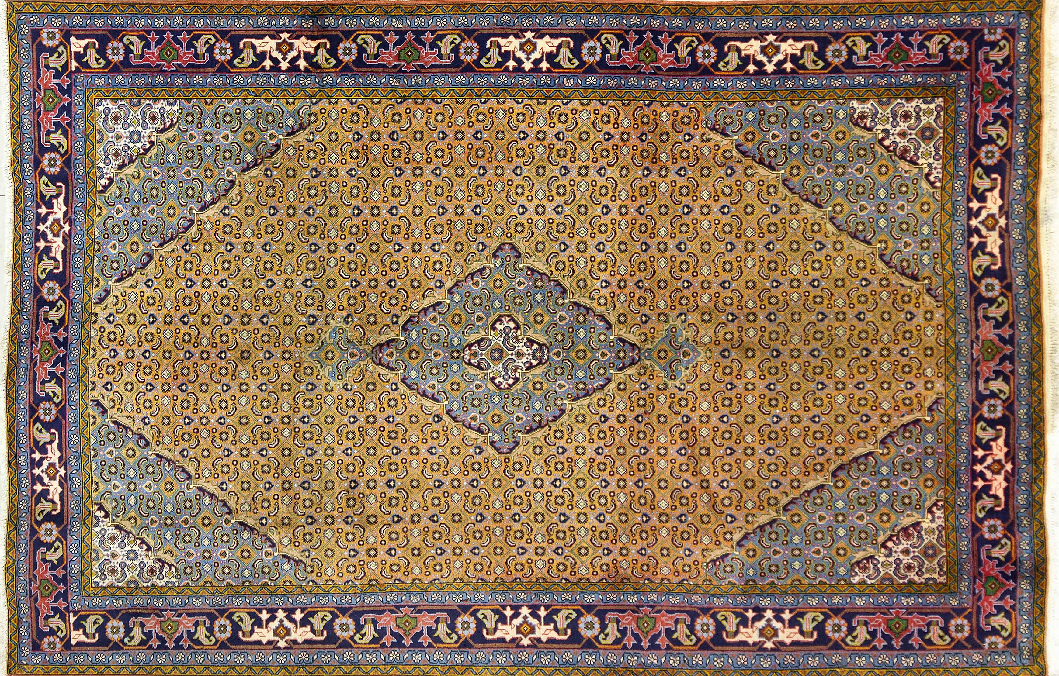 A Persian Hand Knotted Ardebil Carpet, 290 X 195