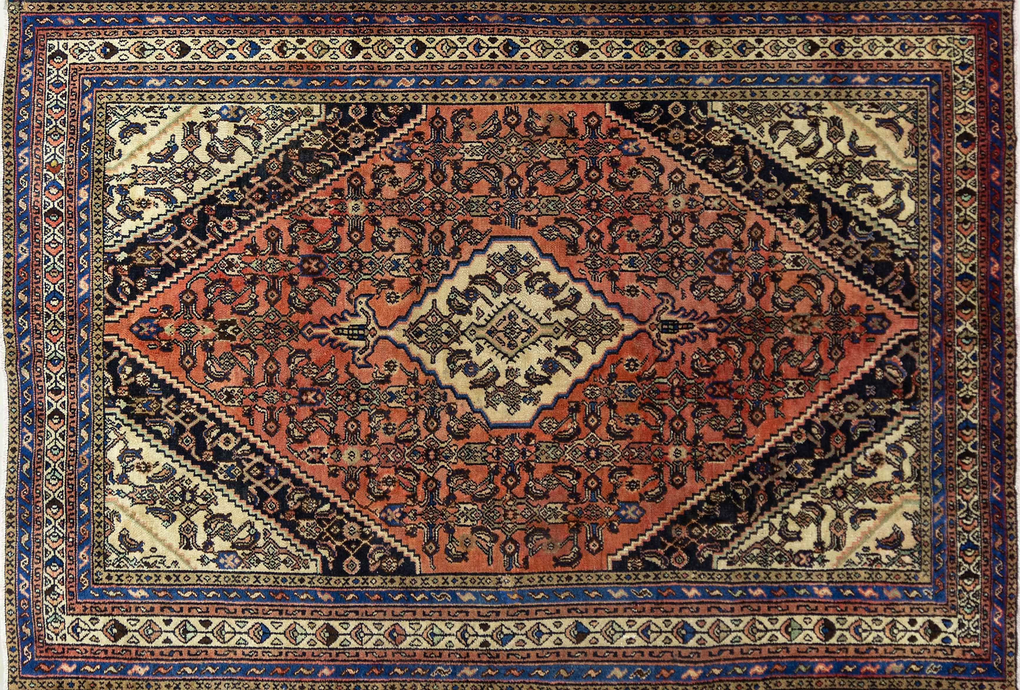 A Persian Hand Knotted Hamadan Carpet, 310 X 207