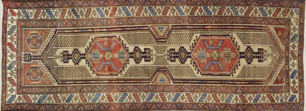 A Persian Hand Knotted Ardebil Runner, 292 x 105