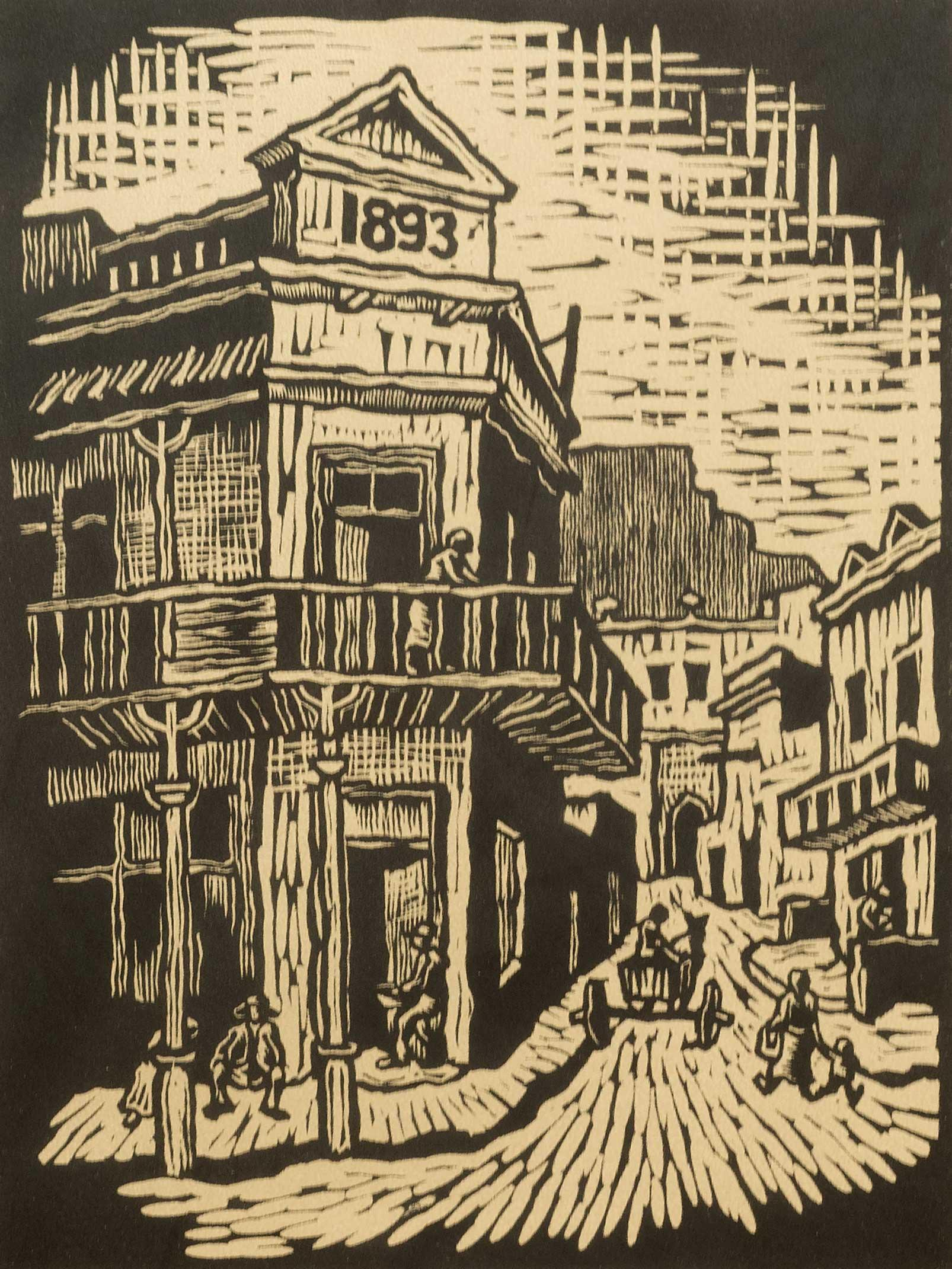 Gregoire Boonzaier (SA 1909 - 2005) Linocut, District Six, Signed & Dated 1978 in Pencil, 38 x 29
