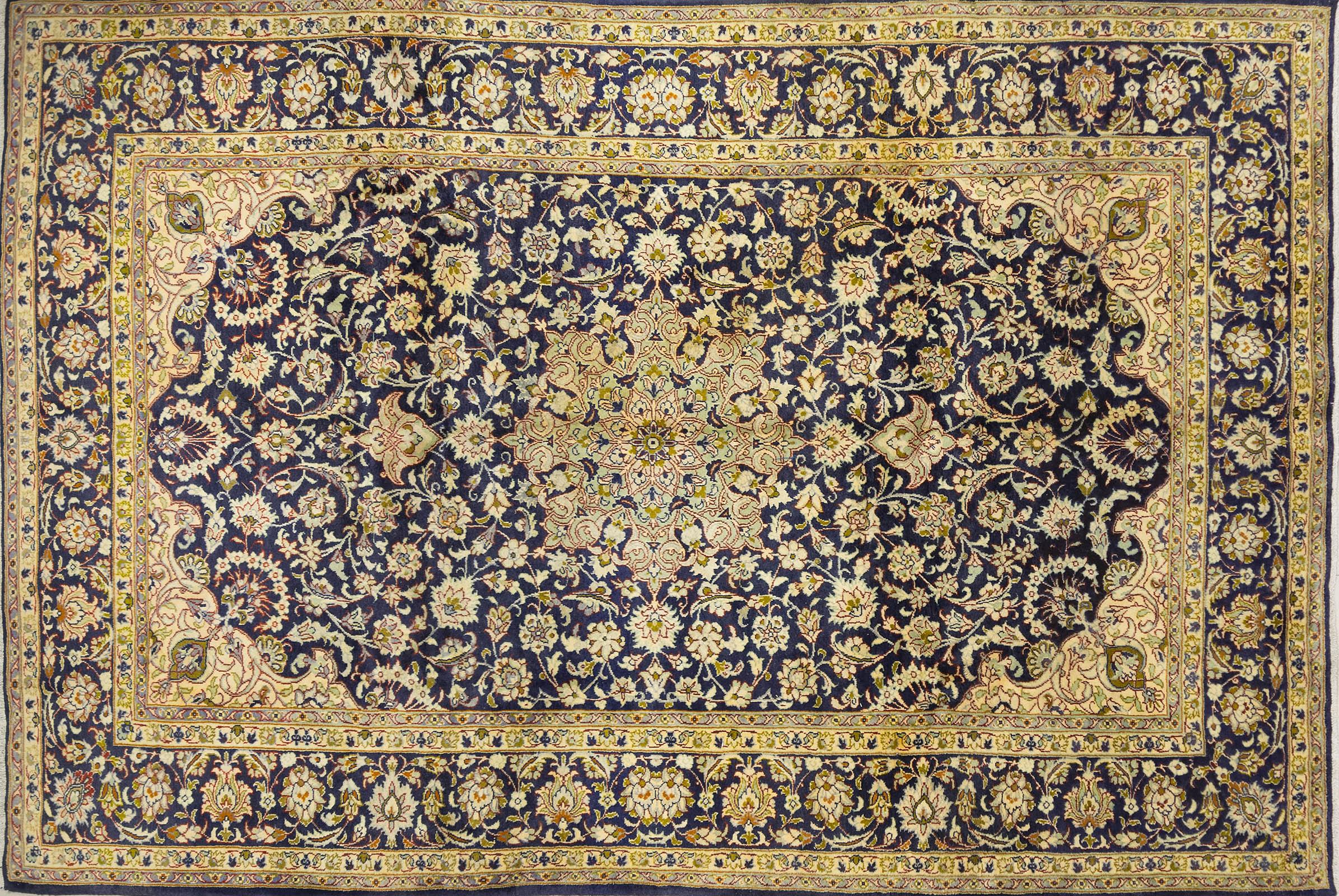 A Persian Hand Knotted Kashan Carpet, 368 x 244