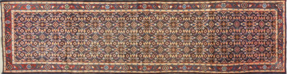 A Persian Hand Knotted Hamadan Runner, 400 x 105