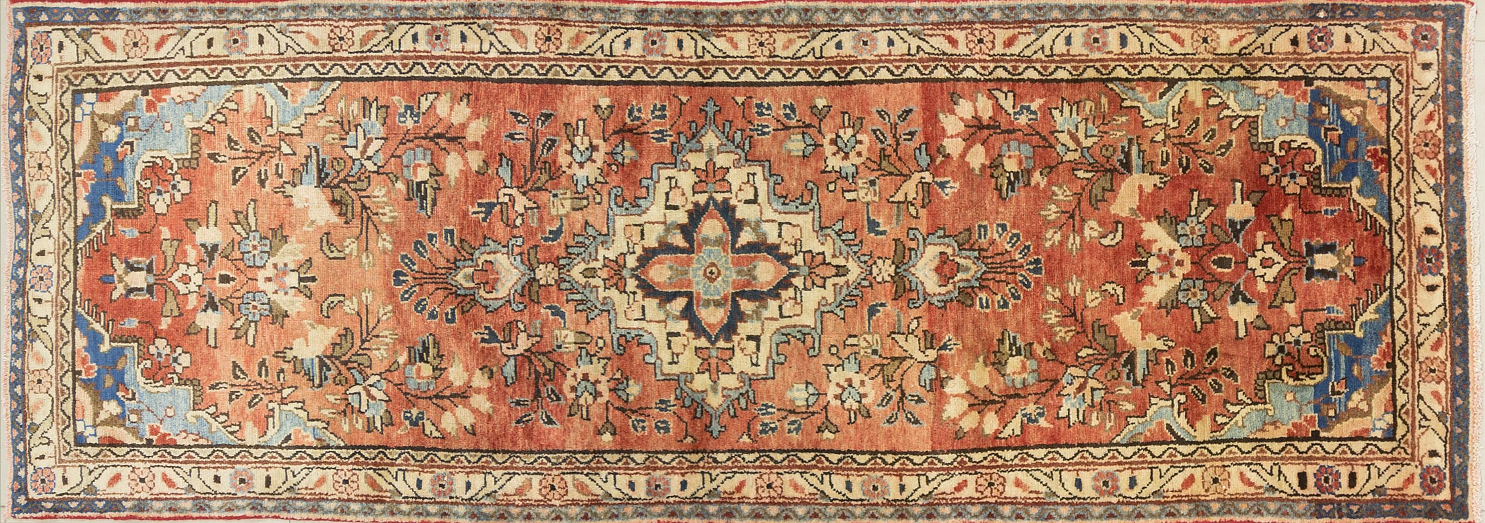 A Persian Hand Knotted Hamadan Runner, 280 x 93