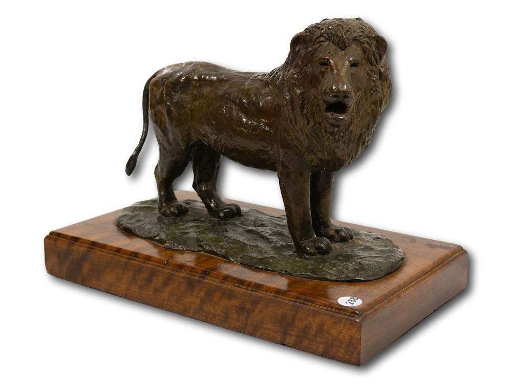 Laurence Anthony Chait (SA, born 1943) Bronze, Lion, Signed & Dated '99, 26cm x 36cm including base