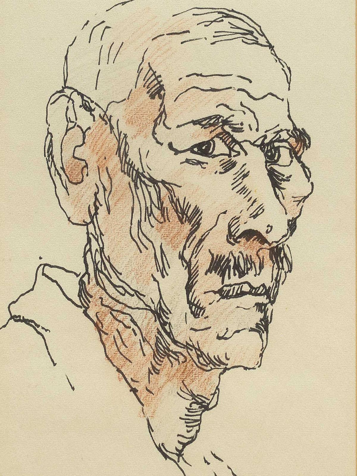 Gregoire Boonzaier (SA 1909 - 2005) Mixed Media, Portrait, Signed & Dated 1966, 39 x 23