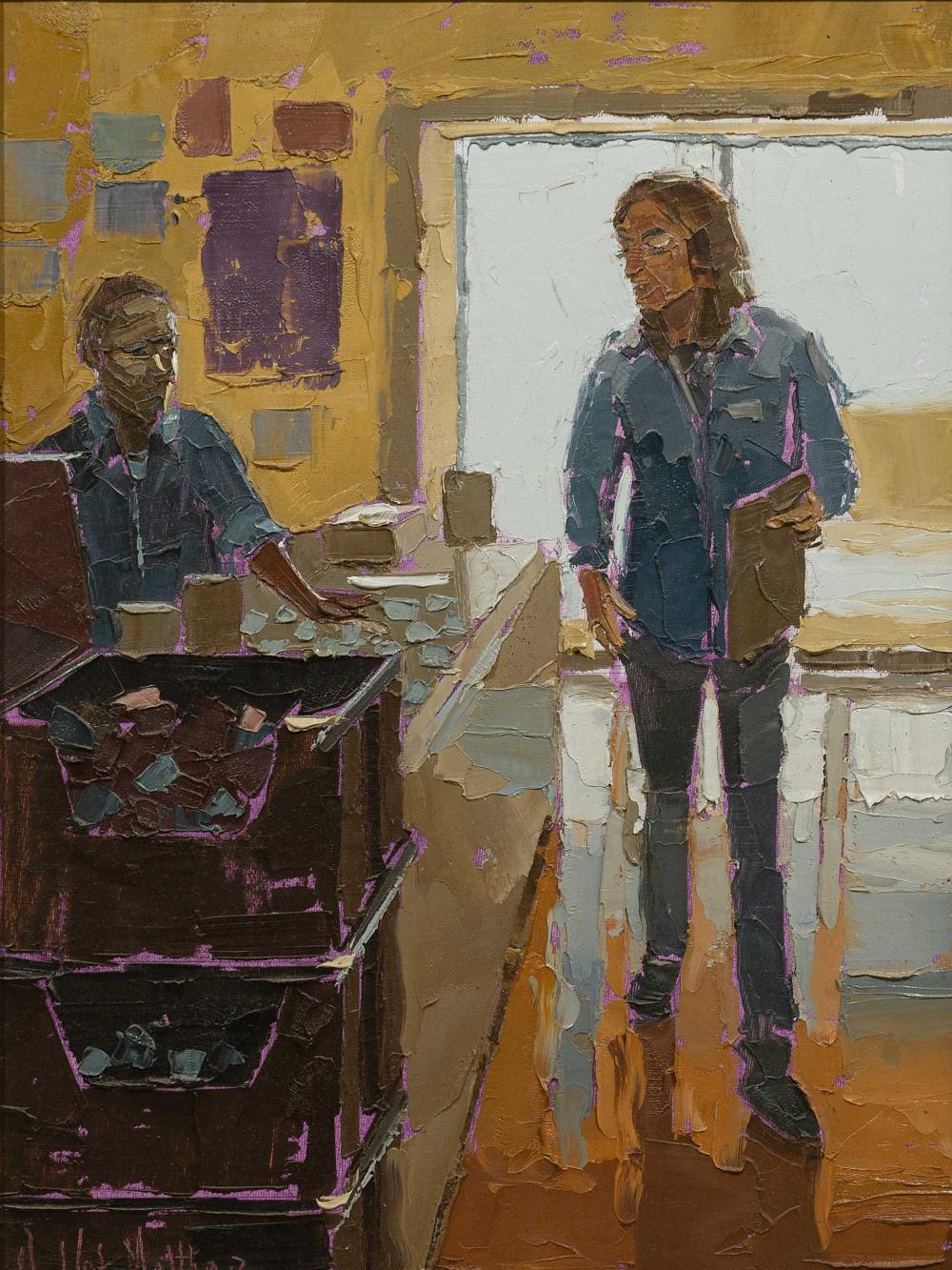 De Wet Matthee (SA, born 1979) Oil, Shop Interior, Signed, 45 x 32