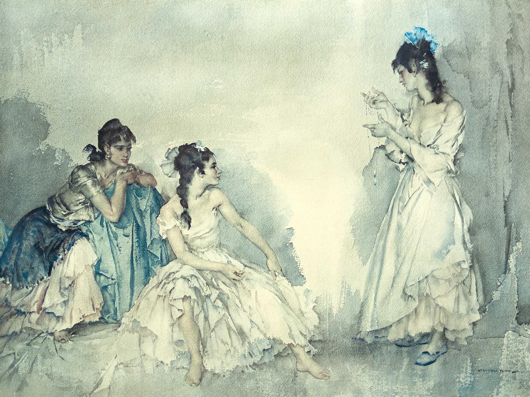 """Sir William Russell Flint (British 1880 - 1969) Photo-Lithograph, """"The Pendant"""", Signed in Pencil, 52 x 71 sheet size"""