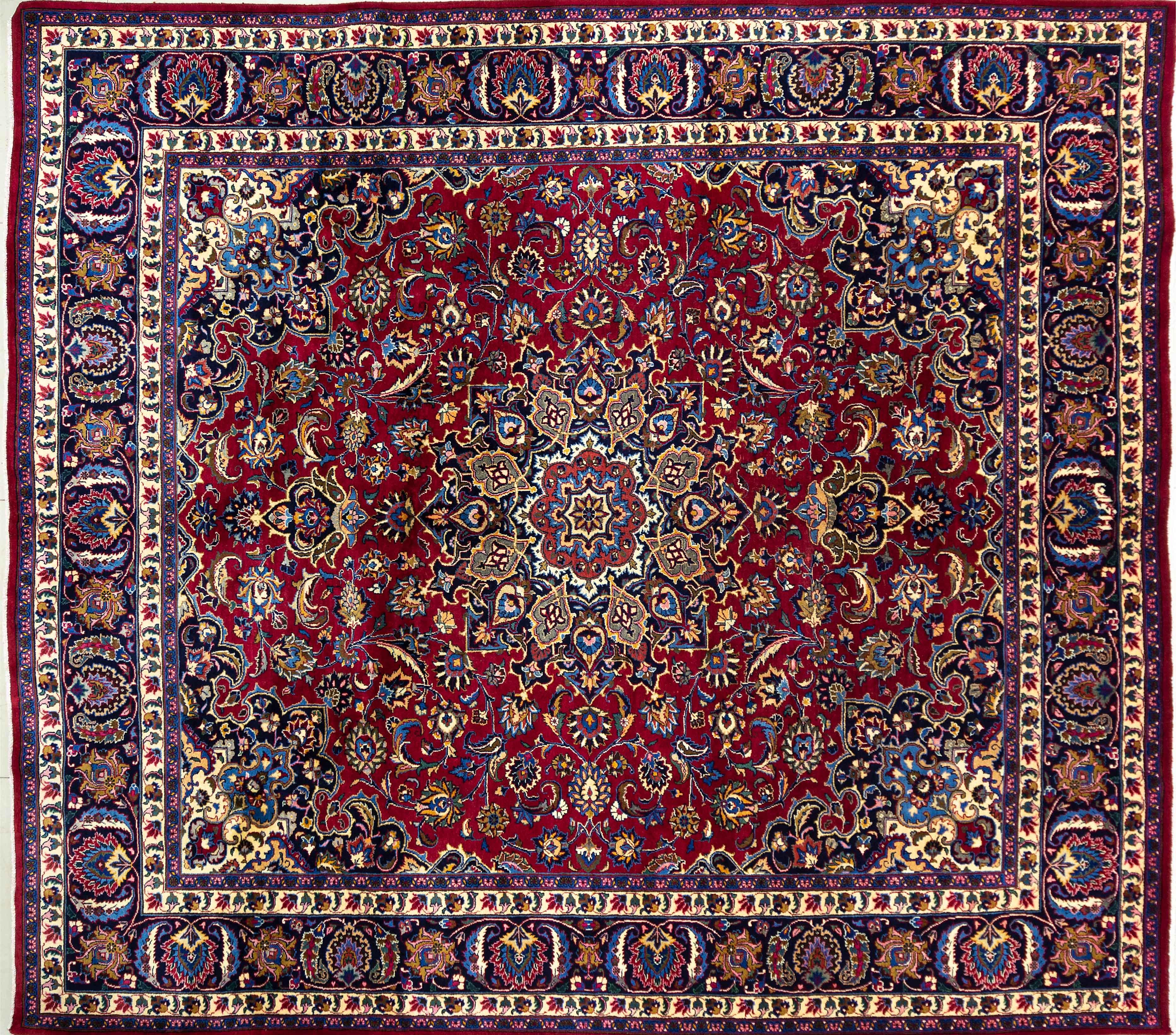 A Persian Hand Knotted Kashmar Carpet, 332 X 294