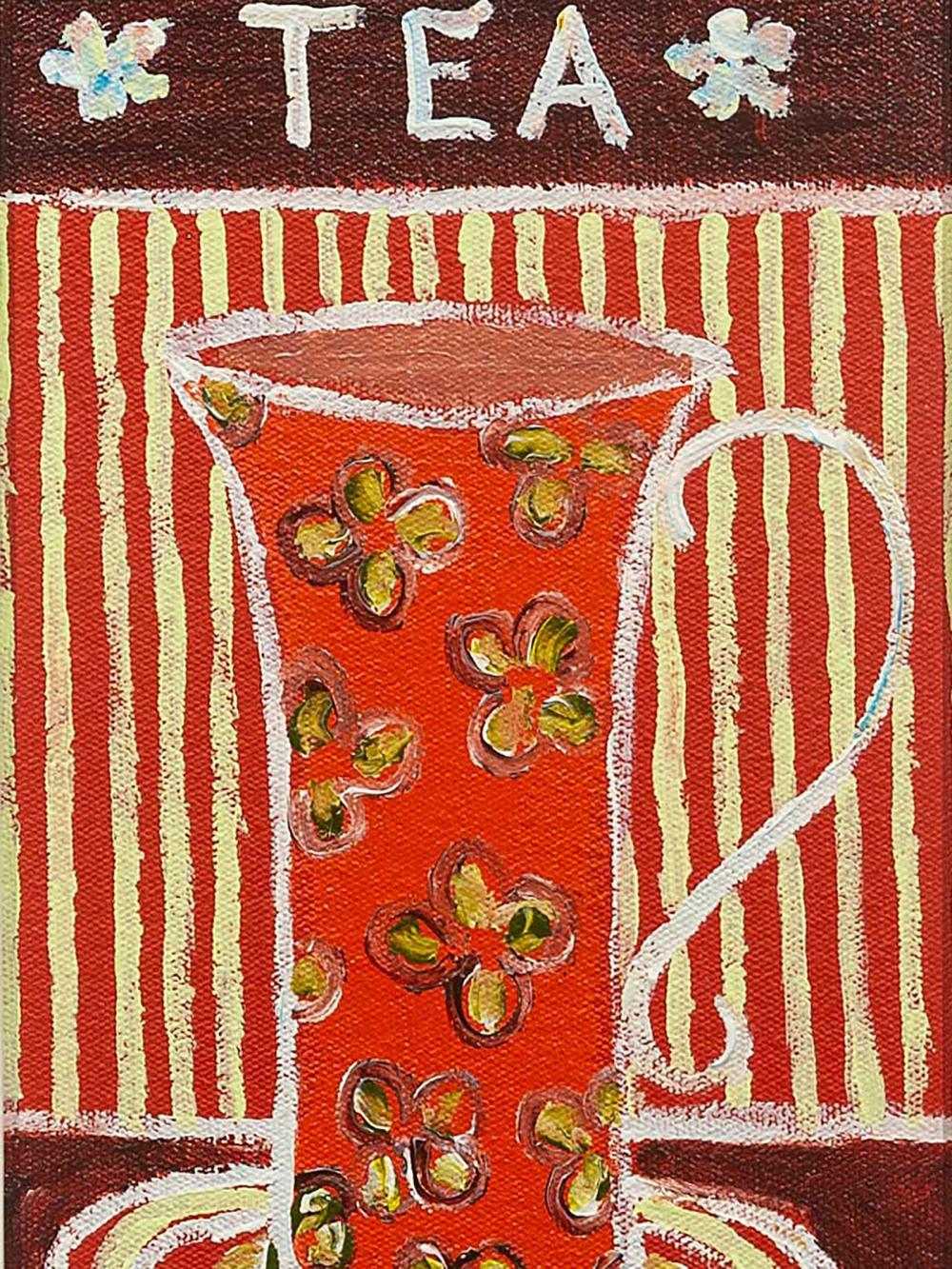 "Portchie (SA, born 1963) Oil, ""Tea"", Signed, 25 x 15"