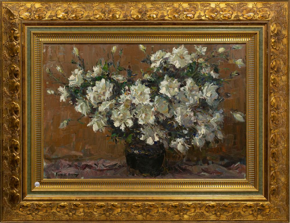Adriaan Boshoff (SA 1935 - 2007) Oil, Still Life Flowers, Signed, 54 x 80
