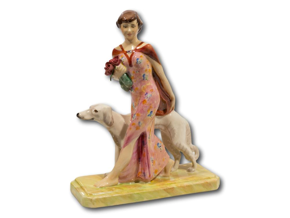 "A Peggy Davies/Kevin Francis Ceramics ""Rosa Canina"" Porcelain Figurine Modelled by Geoff Blower, Numbered 529/750, 24cm"