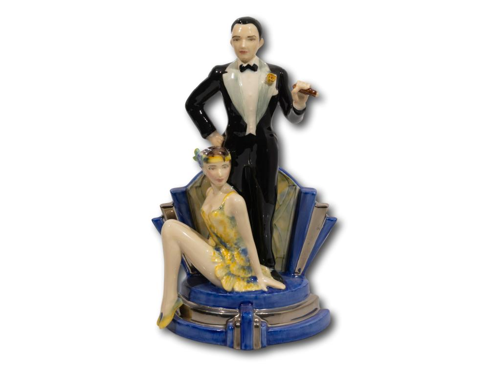 """A Kevin Francis Ceramics """"The Ritzy Duet"""" Porcelain Figurine, Third in the Ritzy Girl Series, 27cm"""