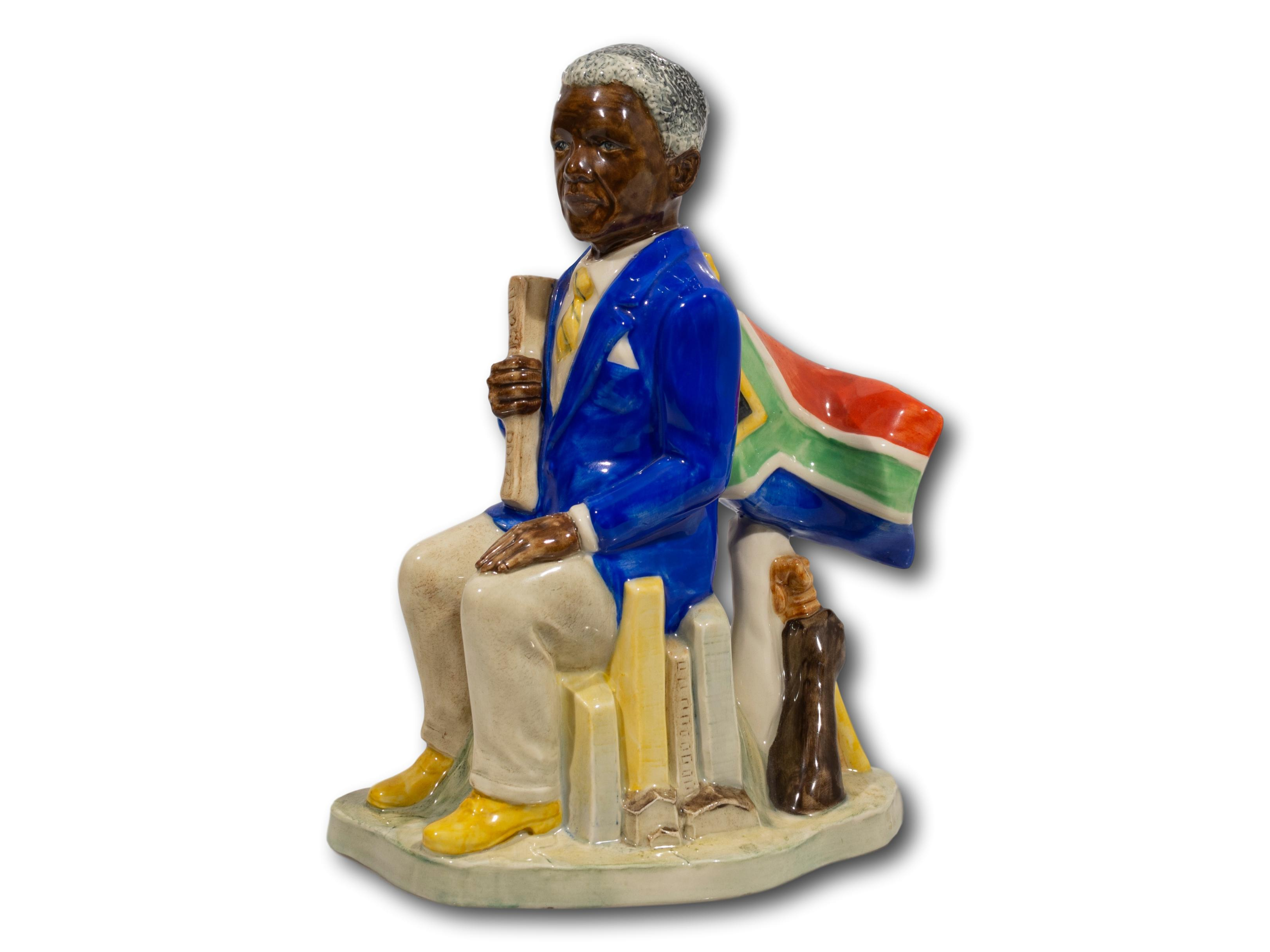 A Kevin Francis Ceramics 'Nelson Mandela - Man of the Year 1995' Figurine, Modelled by Andy Moss, Numbered 17/250, 23cm