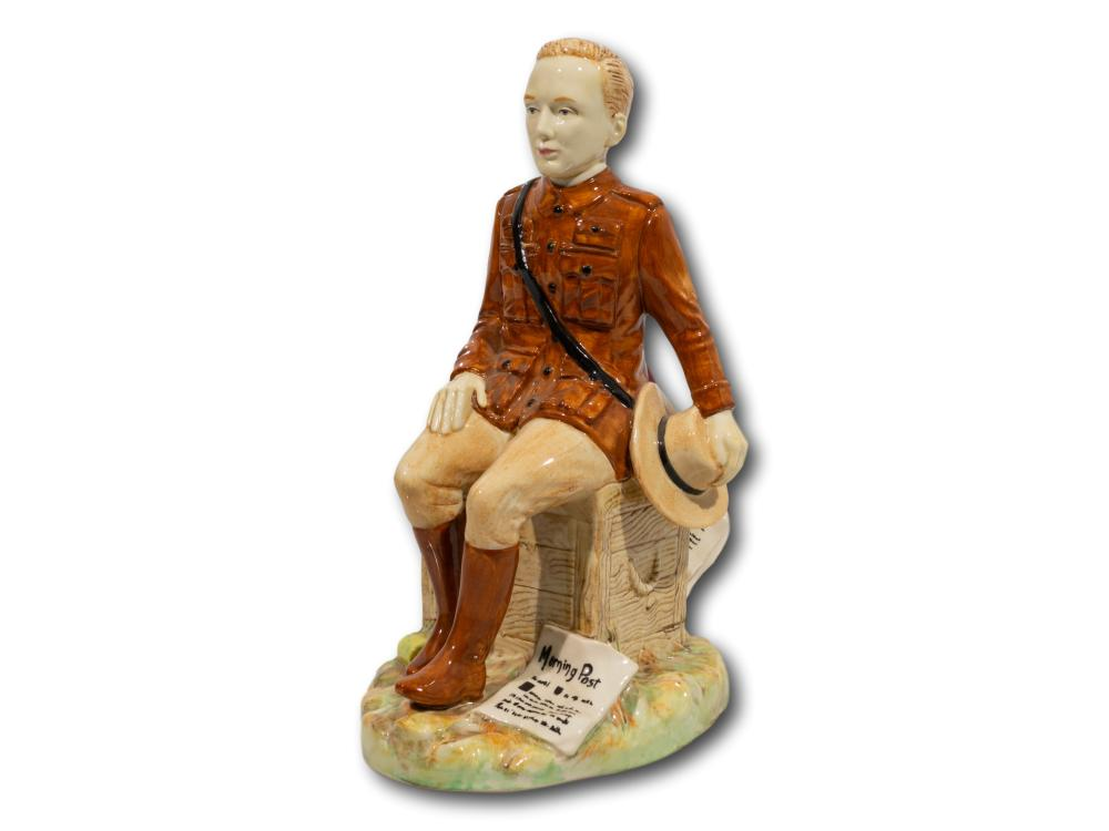 A Kevin Francis Ceramics 'Churchill-Boer War Centenary' Figurine, Modelled By Andy Moss, Numbered 132/500, 23cm