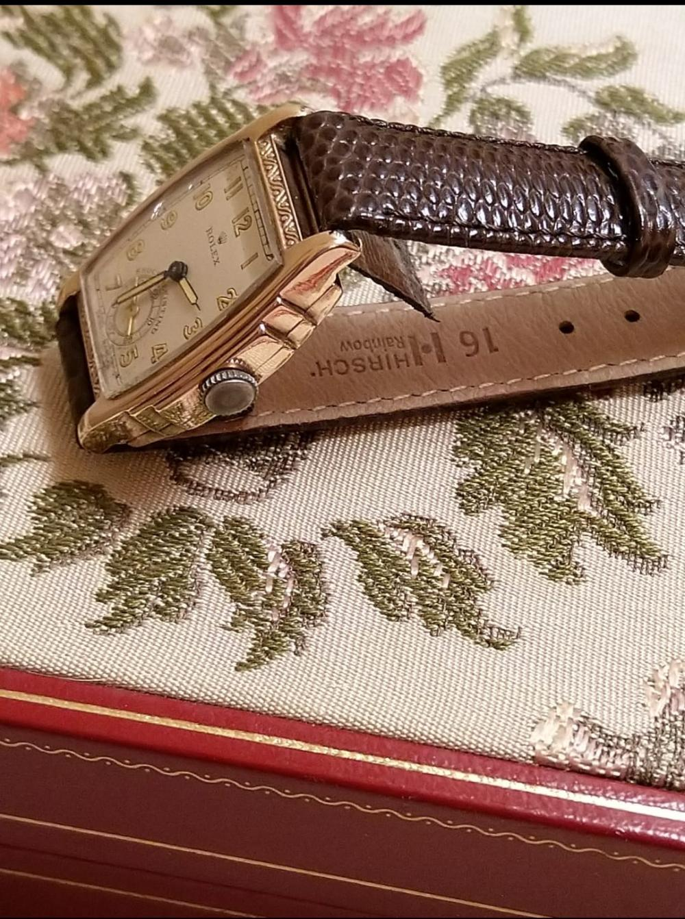 A Rolex 9kt 1940's Art Deco Ladies Wristwatch, A/F
