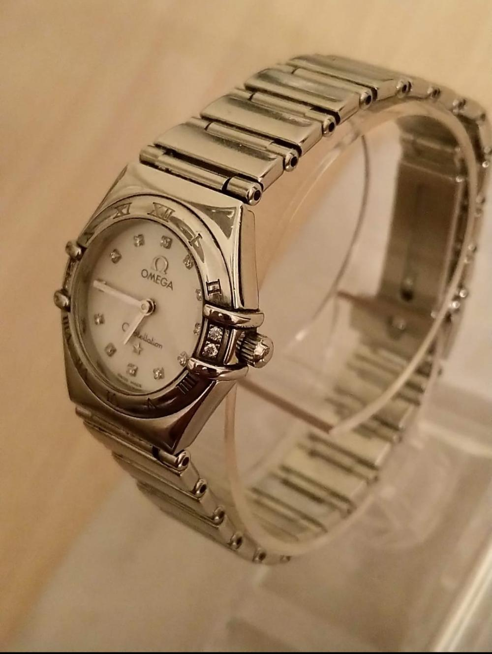 A 1998 Ladies Omega Constellation 'My Choice' Wristwatch, 1566.76, with Mother of Pearl & Diamonds, A/F