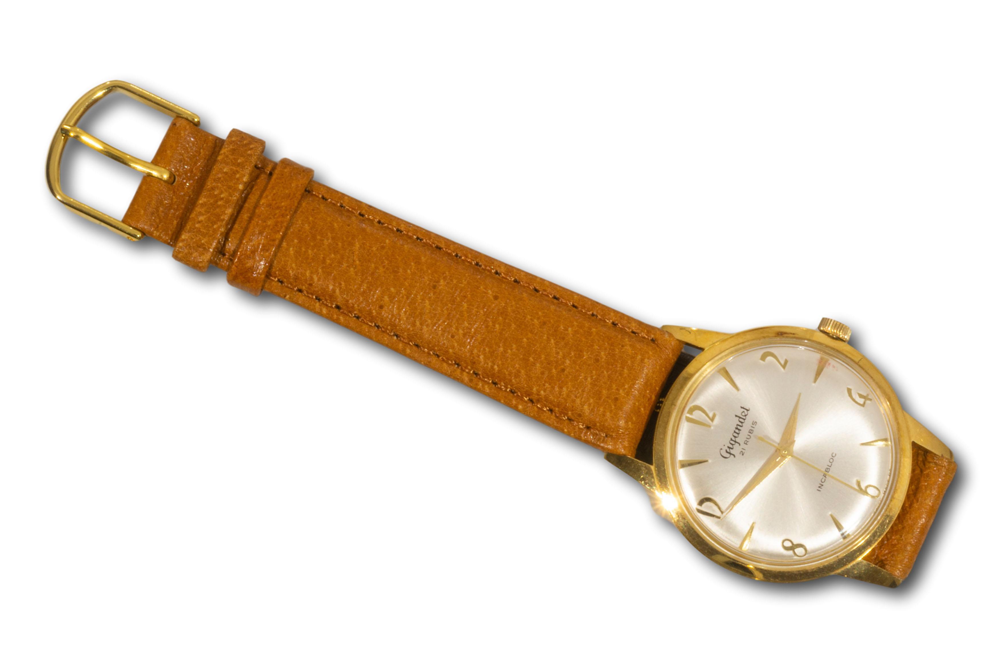 A Gigandet 18kt Gold Plated 21 Rubis Incabloc Wristwatch Circa 1960, A/F