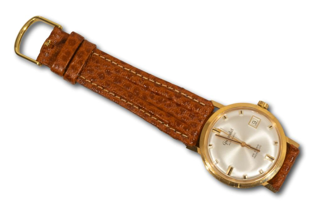 A Gigandet 18kt Ruby Gold Plated 25 Rubis Incabloc Wristwatch Circa 1960, A/F