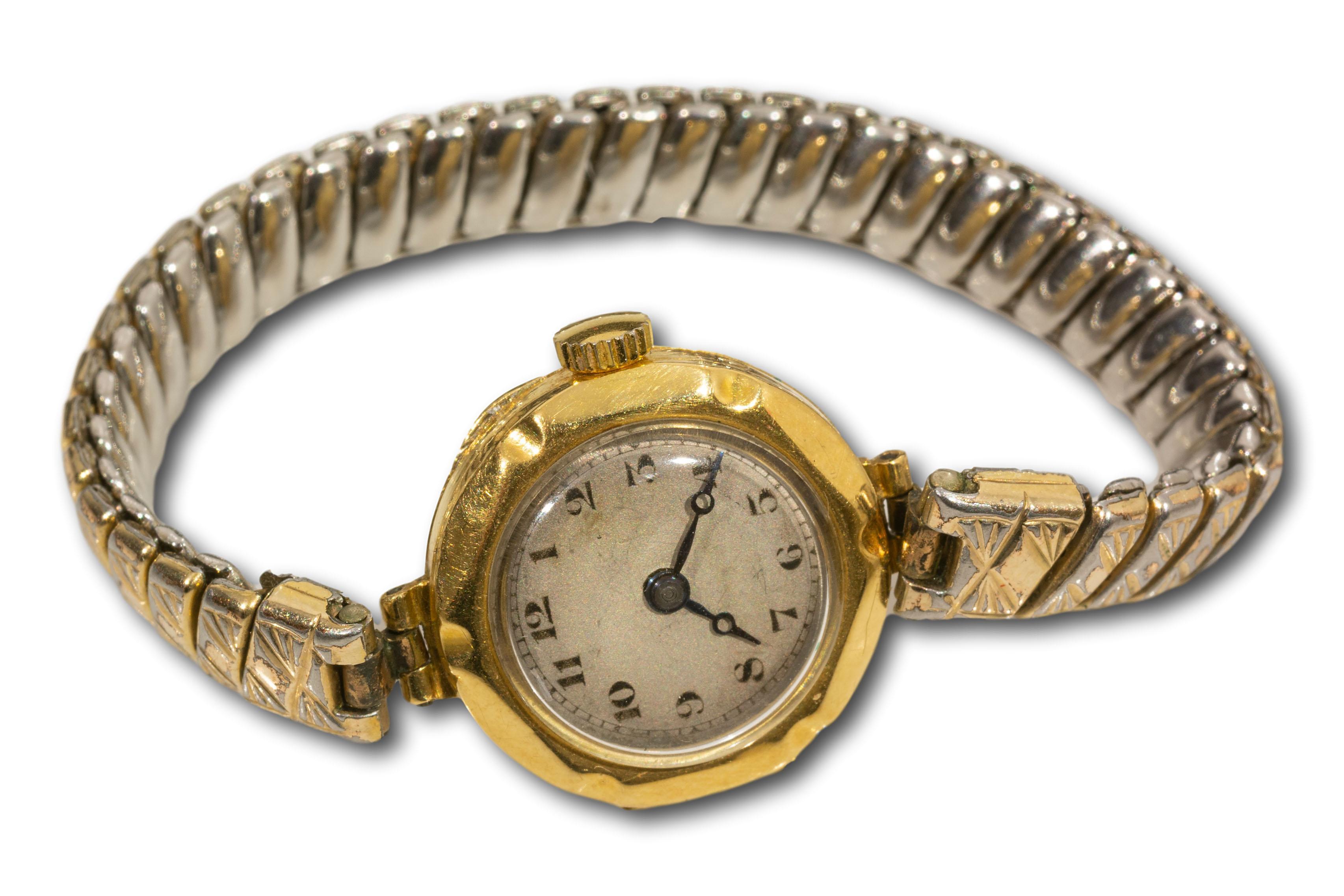 An 18kt Gold Ladies Wristwatch, A/F