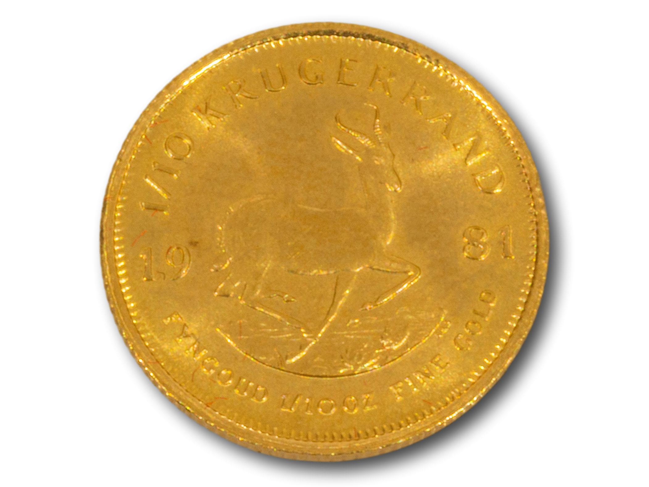 A 1981 1/10 Kruger Rand