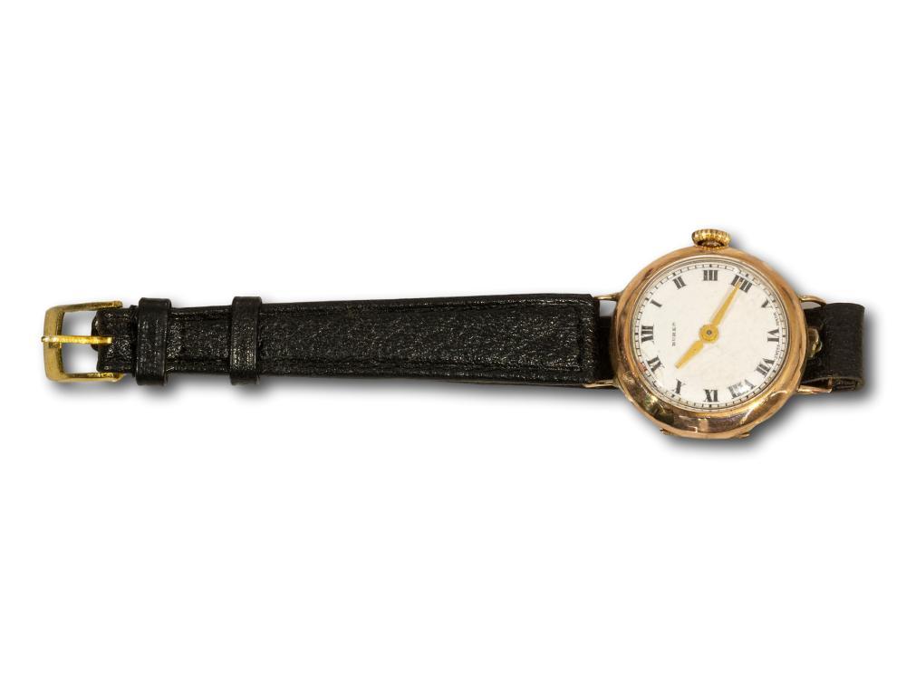 A 9kt Gold Buren Ladies Wristwatch, A/F