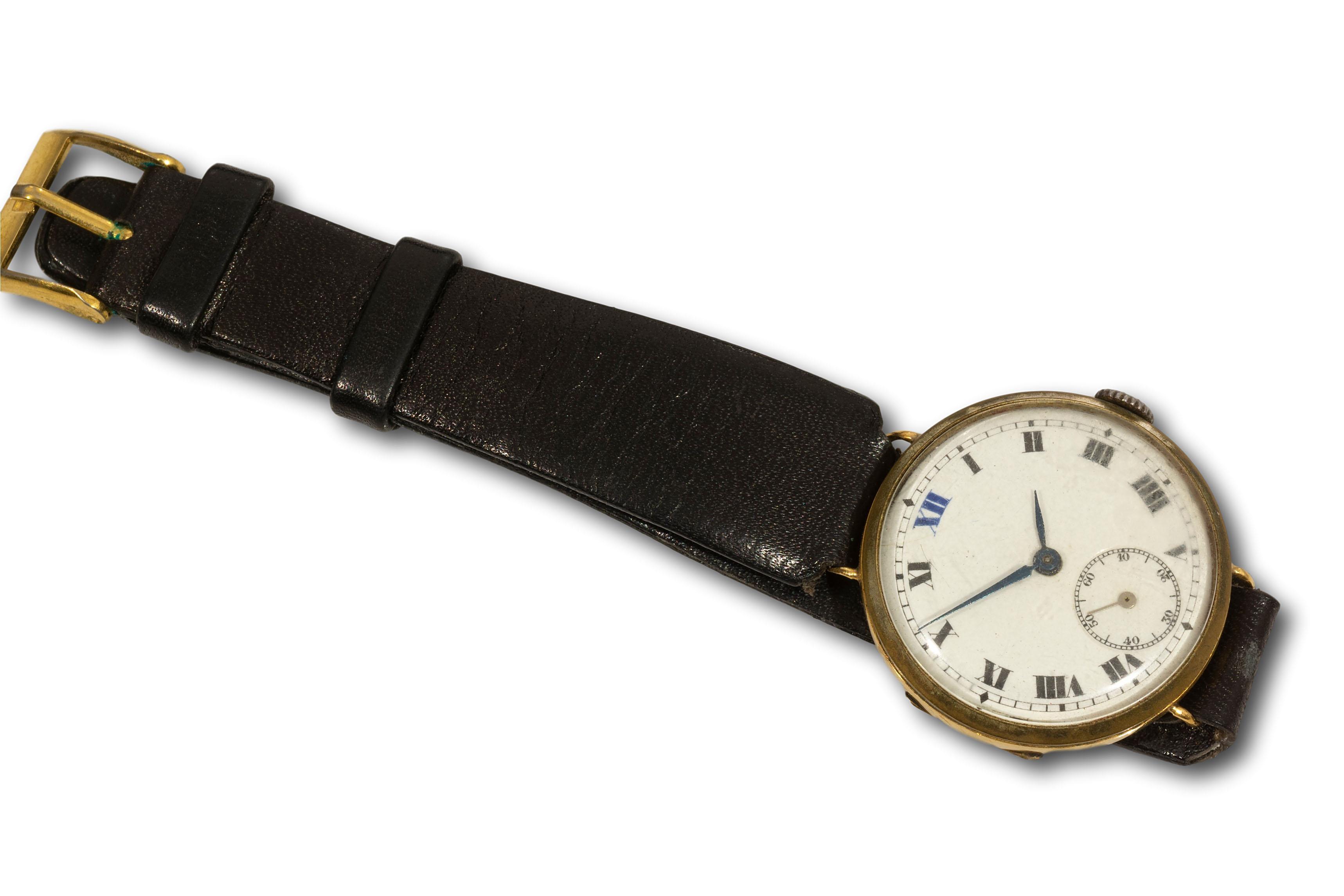 A 1920's 18kt Gold Wristwatch, A/F