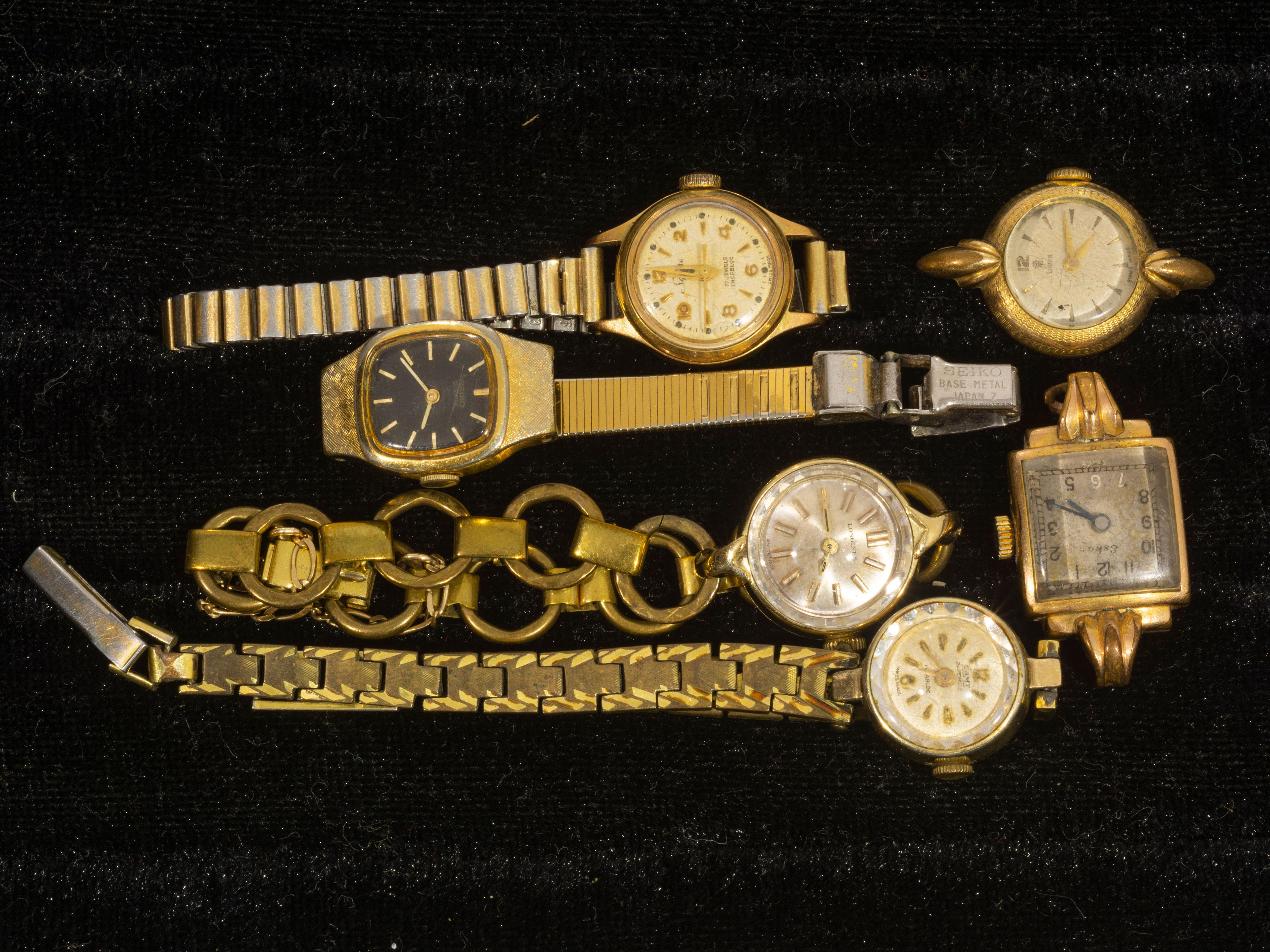 A Job Lot of Ladies Wristwatches, A/F