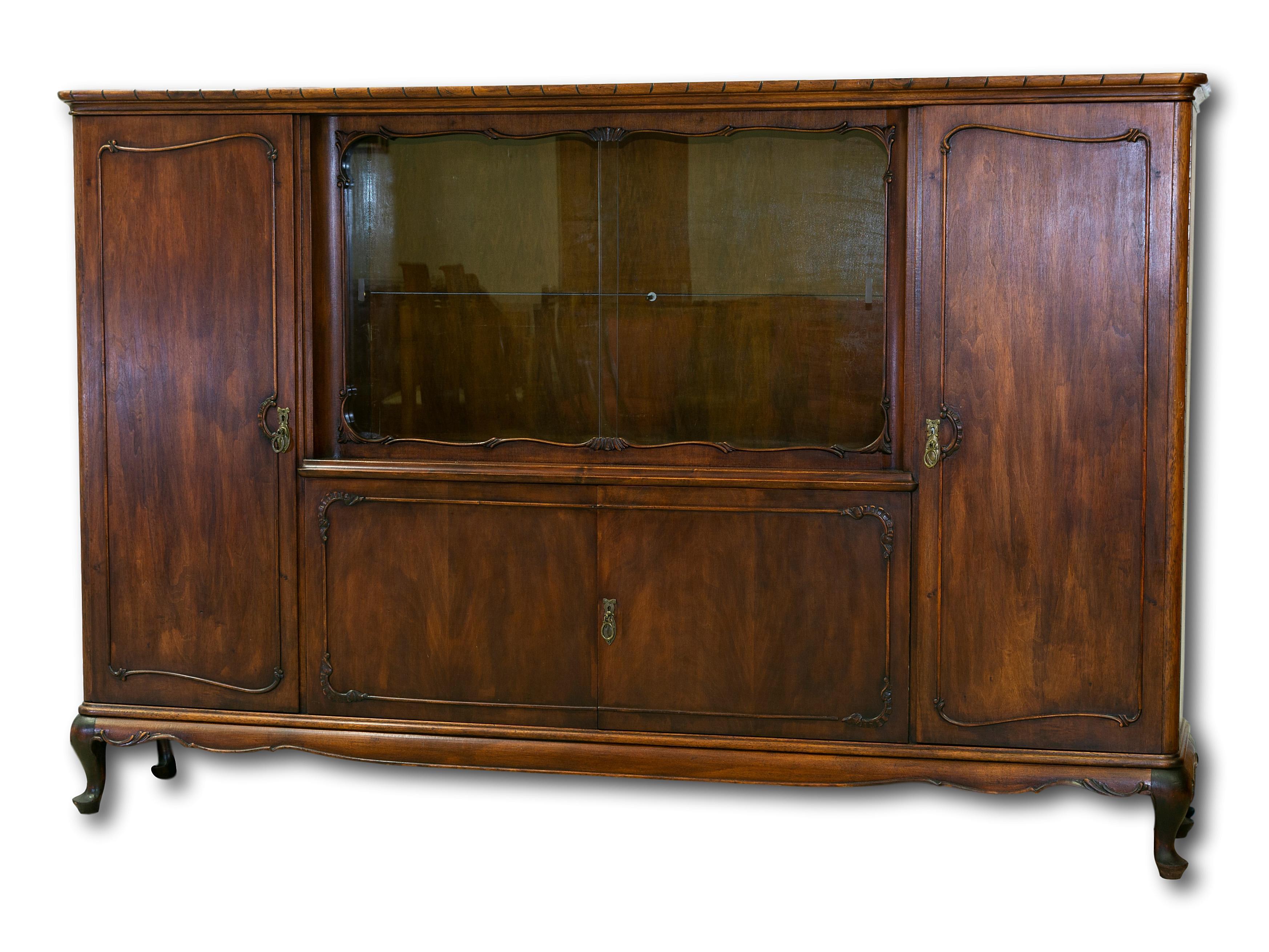 An Early 20th Century Mahogany Display Cabinet, 155 x 238 x 45