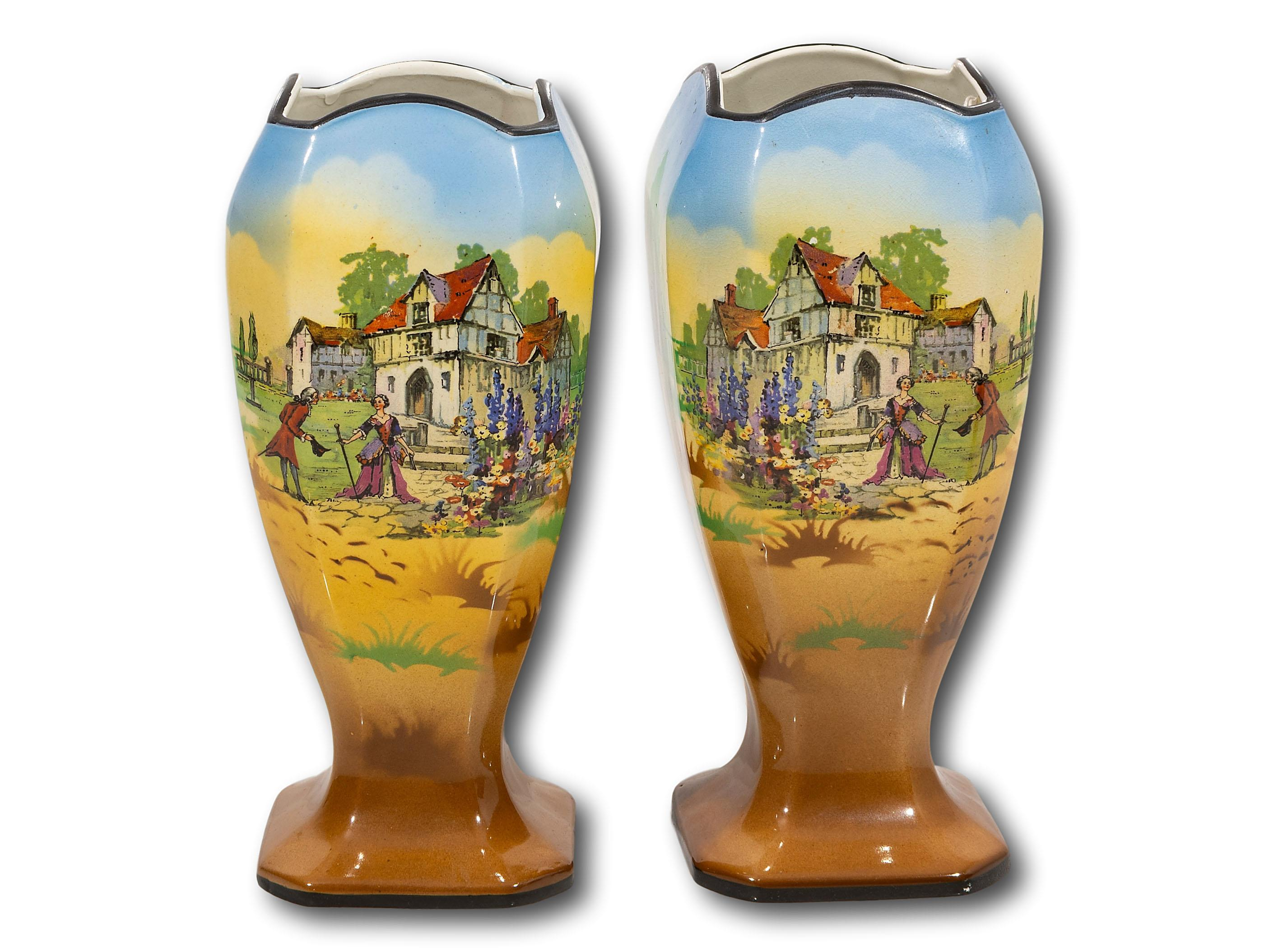 A Pair of Beswick Vases, 23cm each
