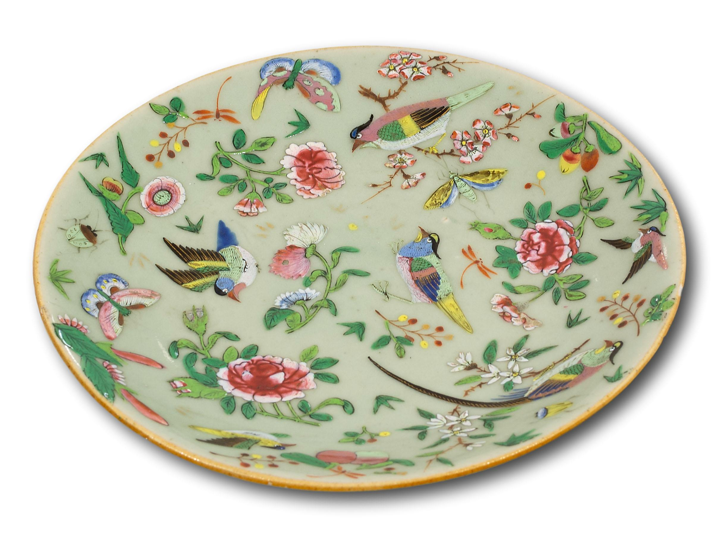 A Chinese Qing Design Famille Rose Plate, 20cm diameter