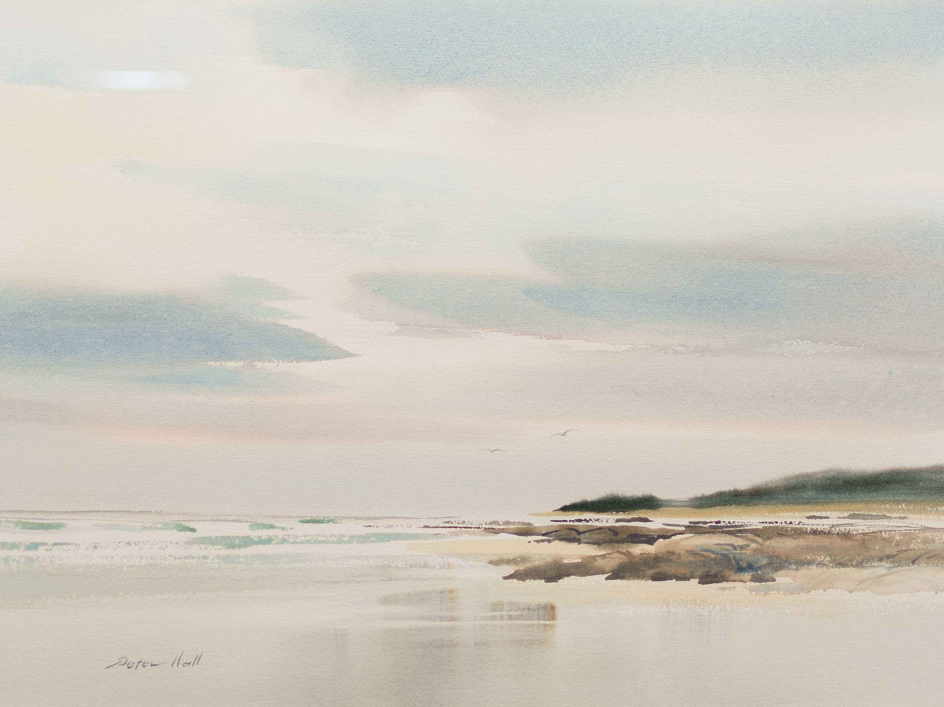 Peter Hall (SA, born 1958) 2 x Watercolours, Beachscapes, Signed, 46 x 66 each