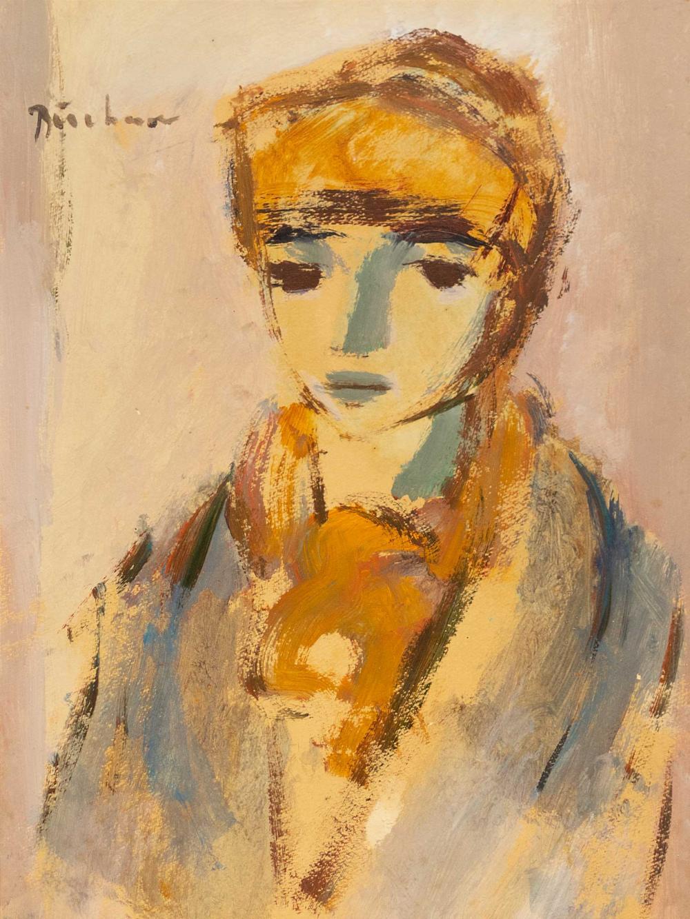 Carl Buchner (SA 1921 - 2003) Oil, Portrait, Signed, 40 x 30