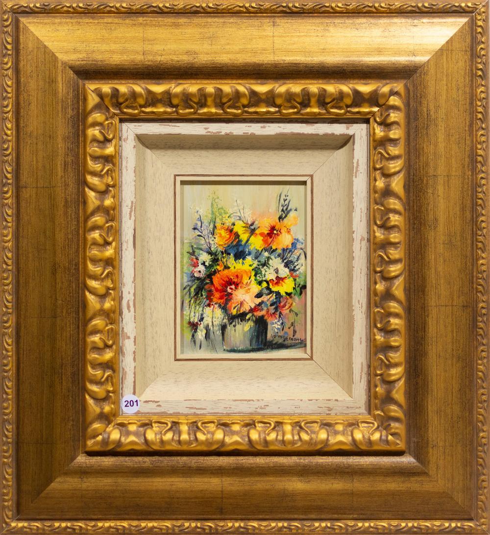 Jan Dingemans (SA 1921 - 2001) Oil, Still Life Flowers, Signed, 18 x 13