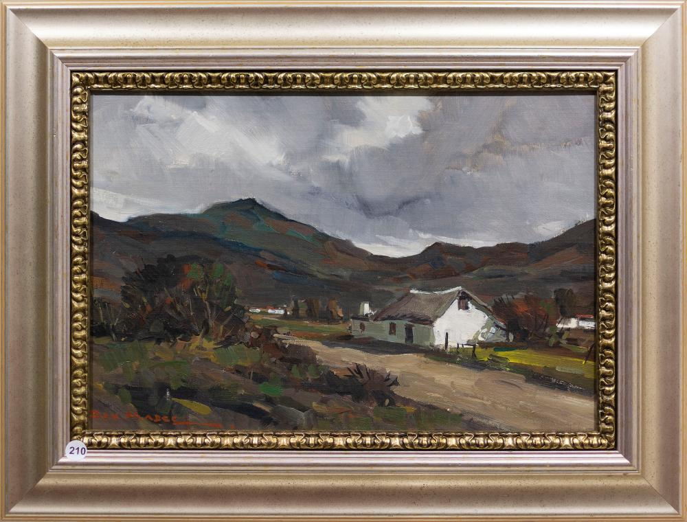 Don Madge (SA 1920 - 1997) Oil, Landscape with Cottage, Signed, 30 x 46