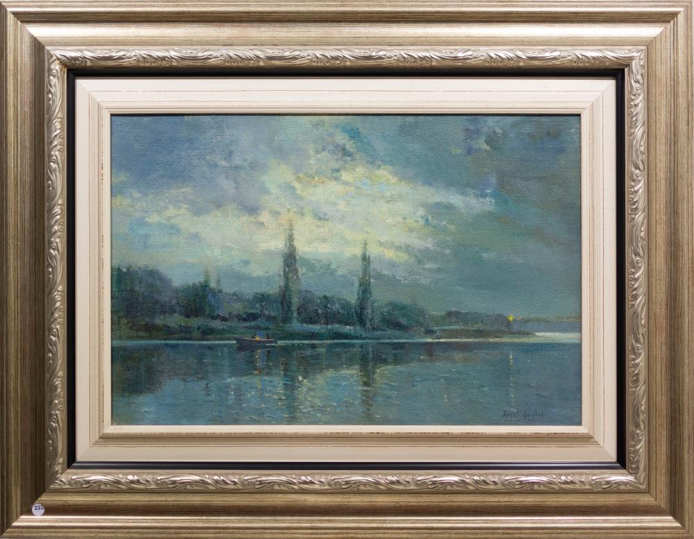 Errol Boyley (SA 1913 - 1993) Oil, River Scene, Signed, 50 x 75