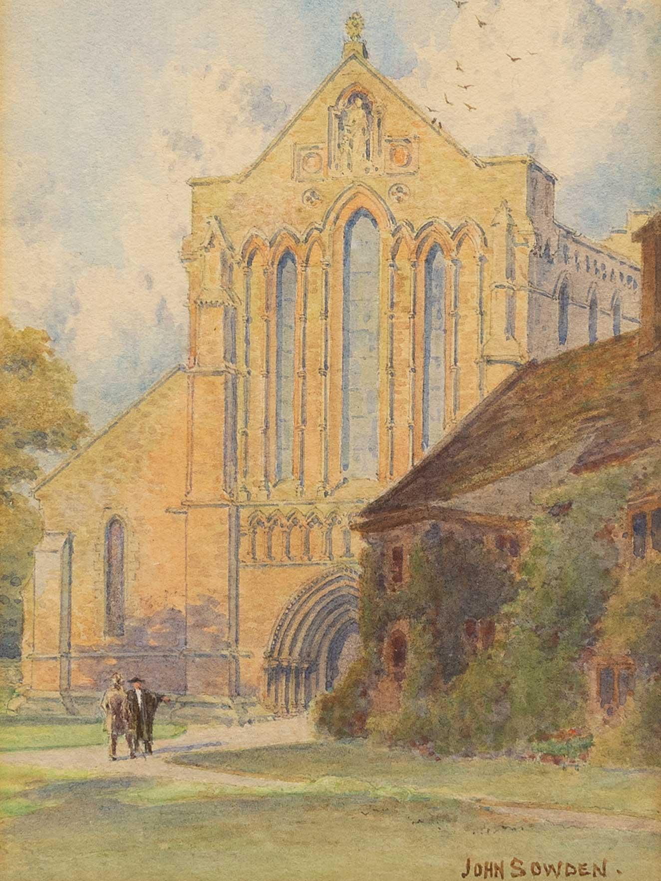 """Jon Sowden (British 1838 - 1926) Watercolour, """"Lanercost Priory Cumberland"""", Signed Titled & Dated 1899 Verso, 17 x 12"""
