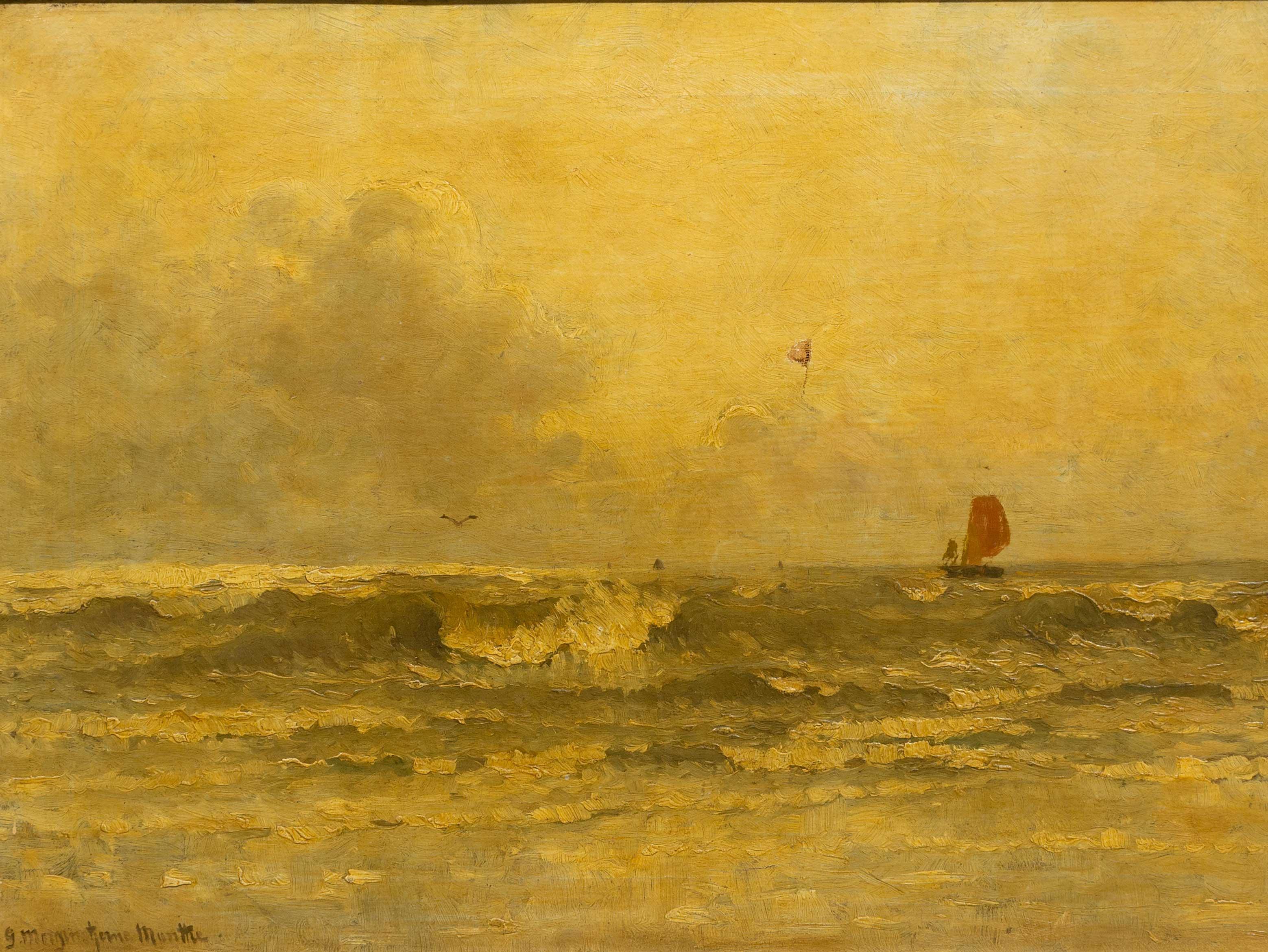 Gerhard Morgenstjerne Munthe (Dutch 1875 - 1927) Oil, Seascape, Signed, 42 x 62