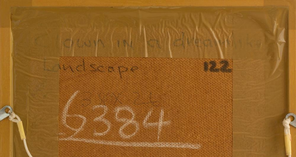 """Hennie Niemann (SA, born 1941) Oil, """"Clown in a Dream"""", Signed & Dated '15 Titled Verso, 38 x 25"""