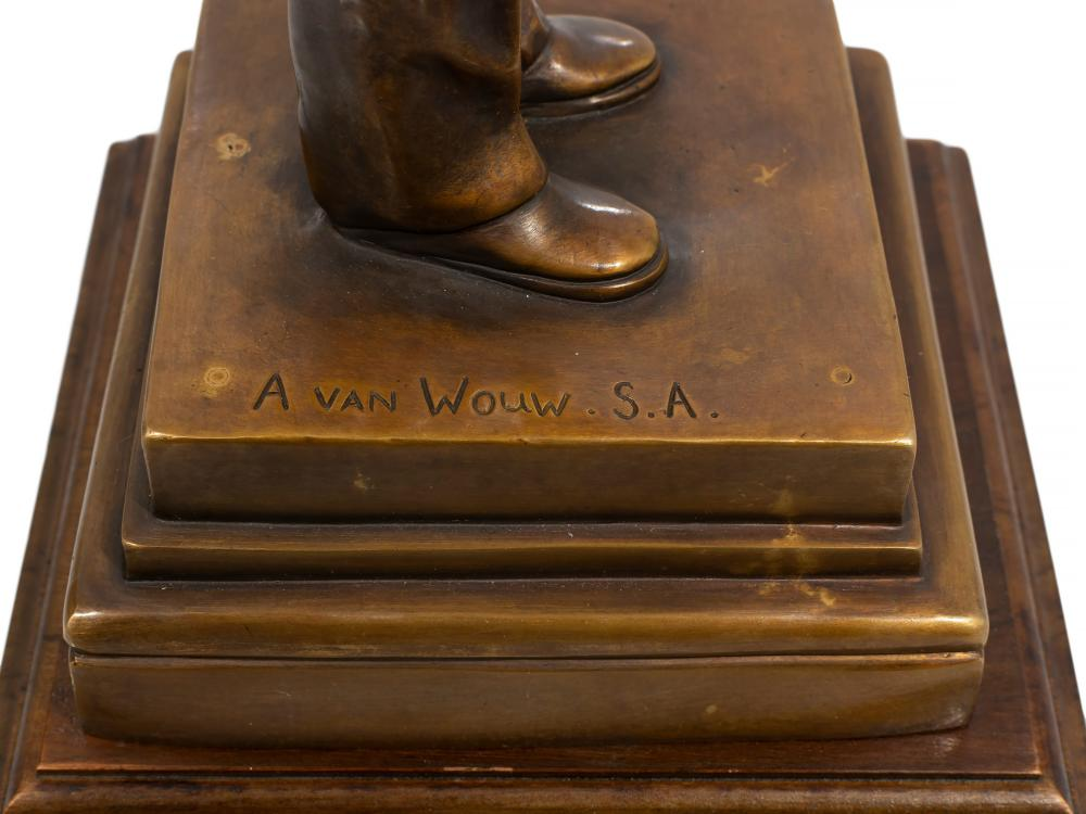 "Anton van Wouw (SA 1862 - 1945) Massa Roma Cast Bronze, Kruger on the Station, Signed inscribed ""S.J.P. Kruger"" & with Foundry Stamp, 32.5cm excluding base"