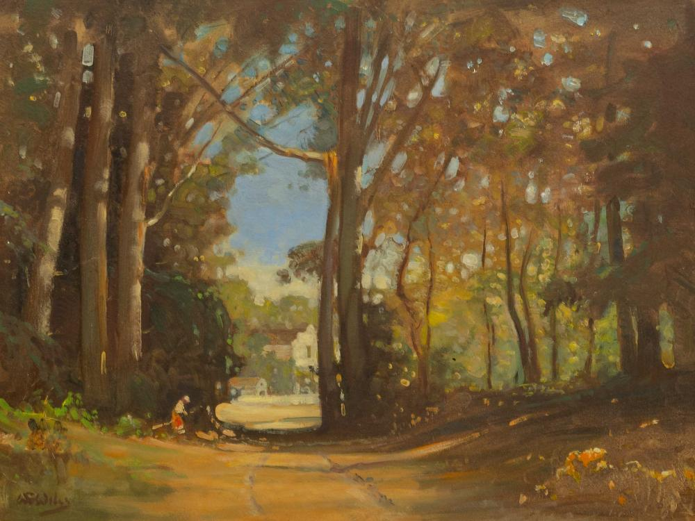 W.G. Wiles (SA 1875 - 1966) Oil, Cape Dutch Homestead Through Trees, Signed, 45 x 60