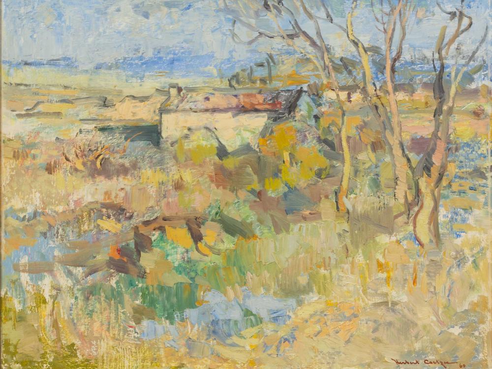 Herbert Herold Coetzee (SA 1921 - 2008) Oil, House Amongst Trees, Signed & Dated '60, 50 x 60