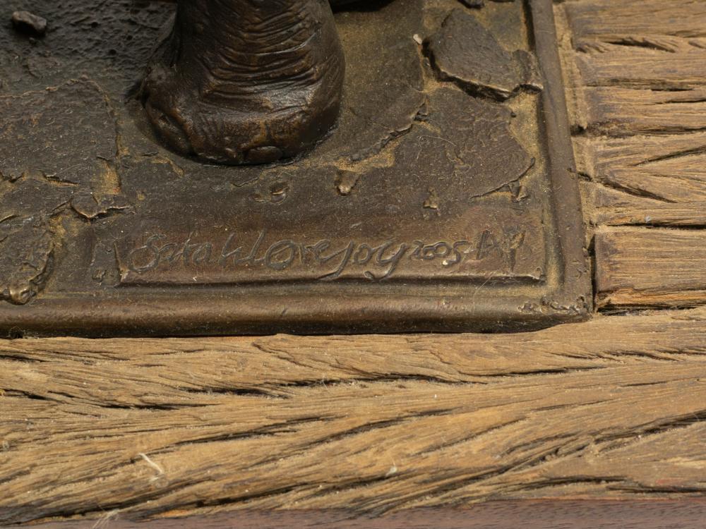 Sarah Lovejoy (SA 20th C) Bronze, Elephant,