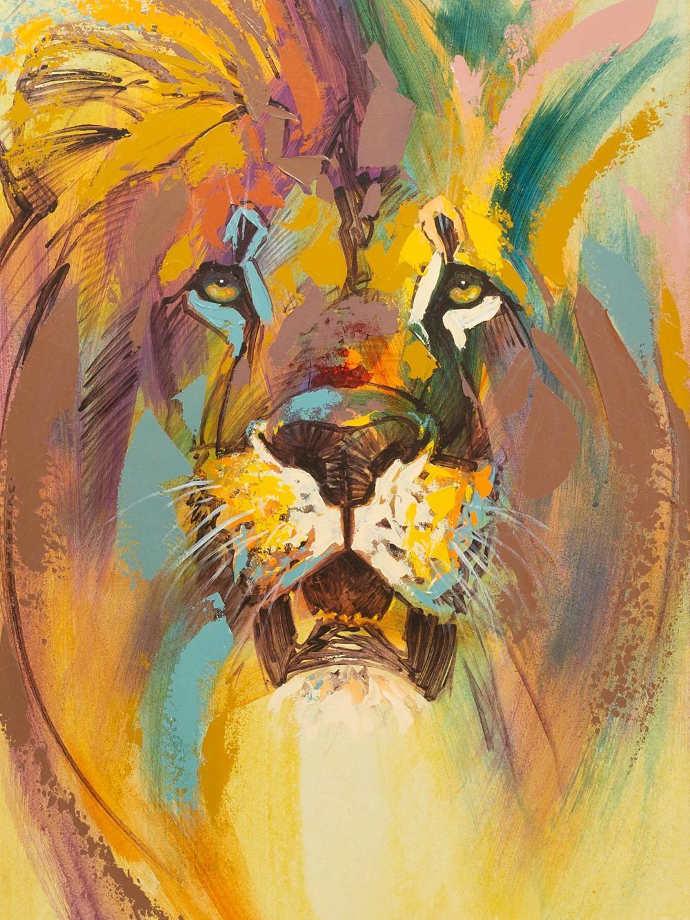 Mark Enslin (SA 20th C) Oil, Lion, Signed, 90 x 60