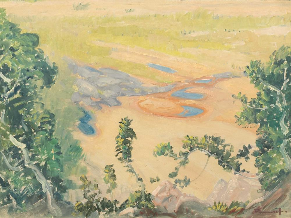 J.H. Pierneef (SA 1886 - 1957) Oil, View from God's Window, Signed, 30 x 40
